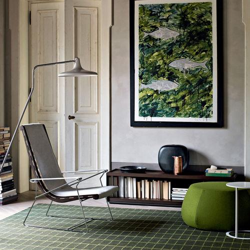 Contemporary armchair / fabric / leather / steel J.J.  B&B Italia
