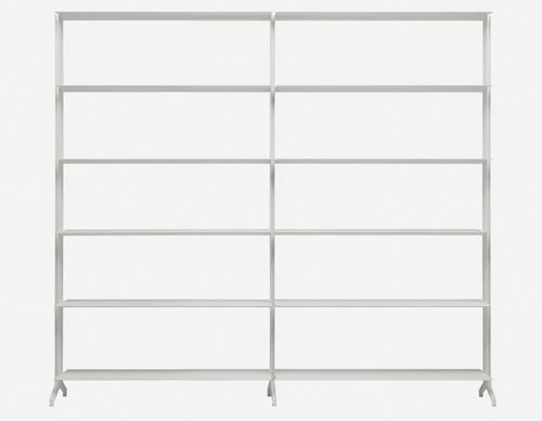 modular shelf / contemporary / aluminum / MDF