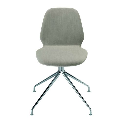 contemporary chair / upholstered / star base / with removable cover