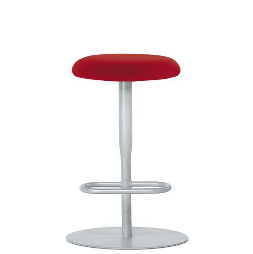 contemporary bar stool / steel / fabric / PVC