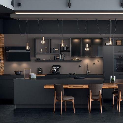 contemporary kitchen / laminate / melamine / island