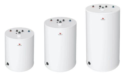 floor hot water cylinder / vertical / residential