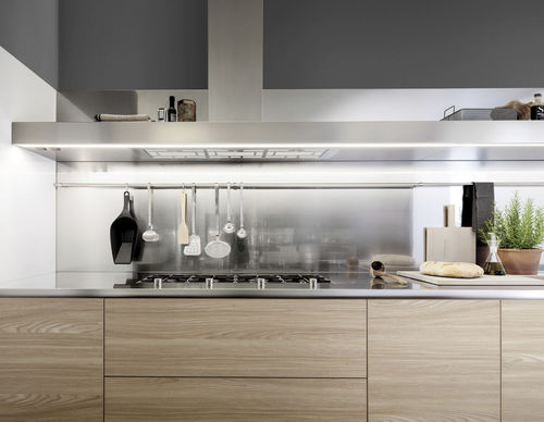 wall-mounted range hood / with built-in lighting / original design