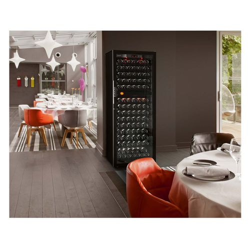 commercial wine cabinet / metal / aluminum / wooden