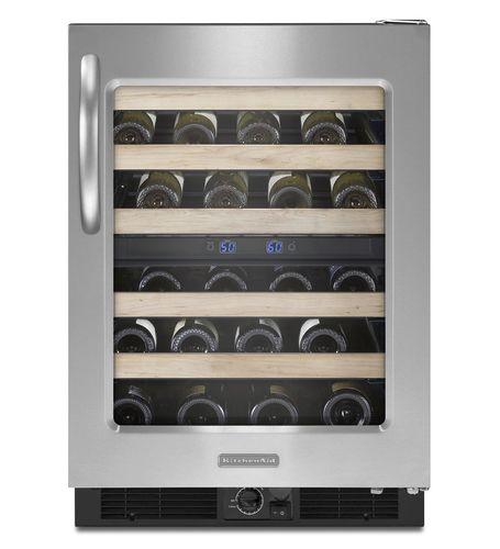 built-in wine cabinet / undercounter / metal / electric