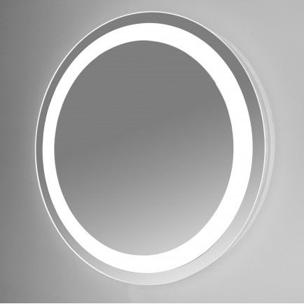 wall-mounted bathroom mirror / LED-illuminated / contemporary / round