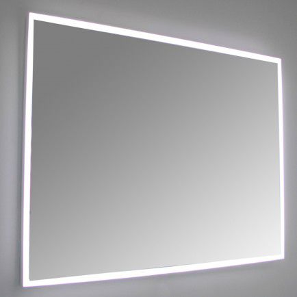 Wall-mounted mirror / contemporary / rectangular / LED-illuminated QUA ottofond