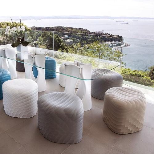 contemporary pouf / polyurethane / waterproof / outdoor