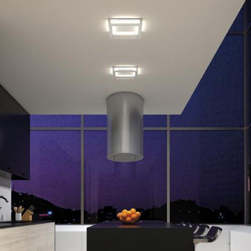 contemporary ceiling light / square / plastic / LED