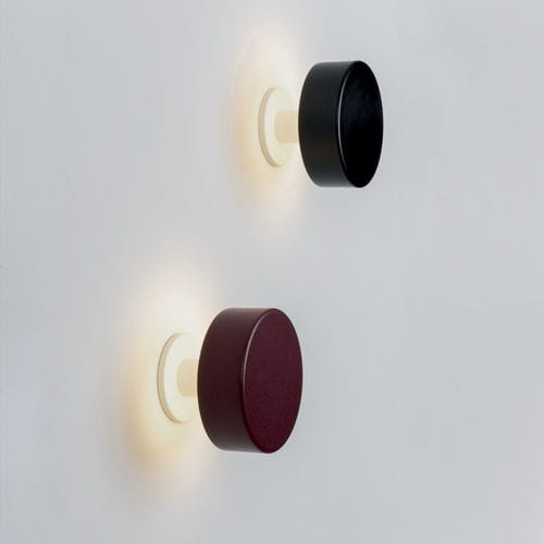 contemporary wall light / metal / marble / LED