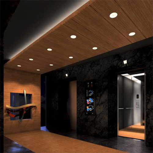 recessed downlight / LED / round / dimmable