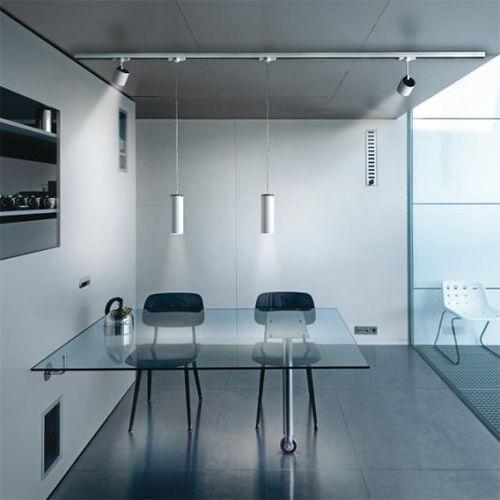pendant lamp / contemporary / chromed metal / LED