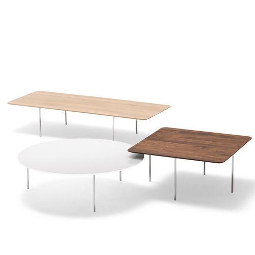 contemporary coffee table / oak / walnut / MDF