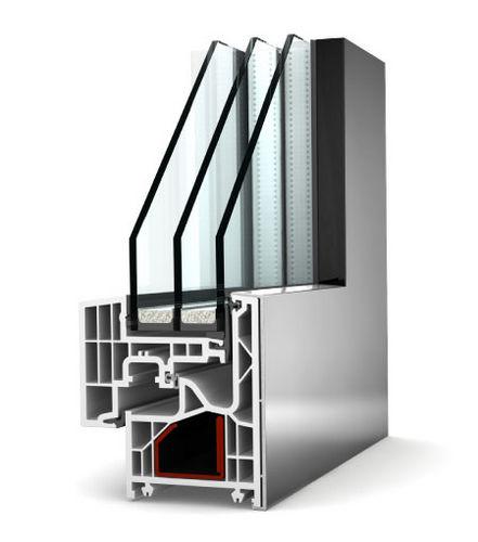 sash window / tilt-and-turn / aluminum / PVC