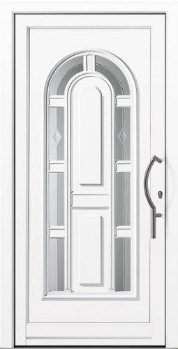 entry door / swing / aluminum / acoustic
