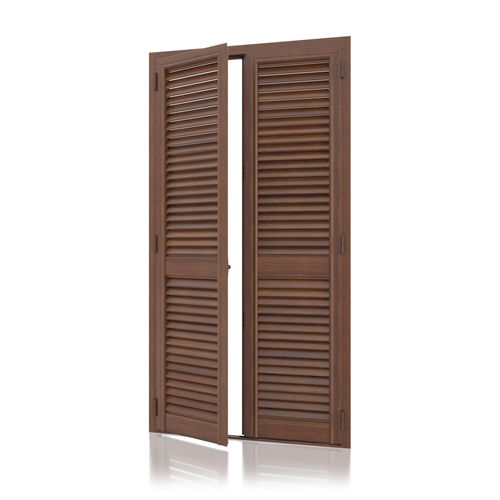 swing shutter / aluminum / door / armored