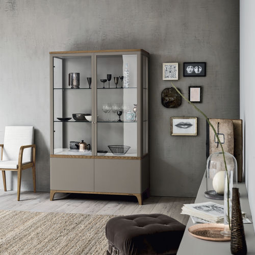 contemporary display case / with legs / ash / oak