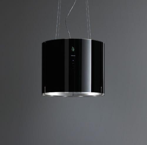 wall-mounted range hood / island / with built-in lighting / original design