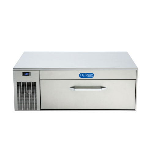 commercial refrigerator-freezer / with drawer / stainless steel / built-in