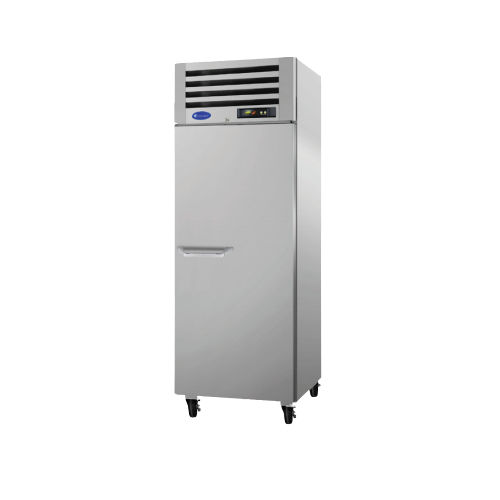 upright freezer / commercial / stainless steel