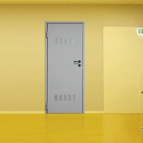 indoor door / swing / steel / security