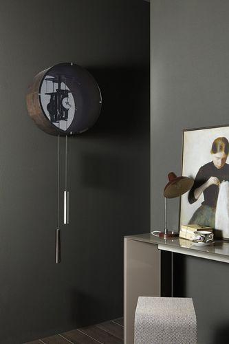 Contemporary clock / pendulum / wall-mounted / ash TIC TAC 14 by Pierangelo Gallotti Gallotti&Radice