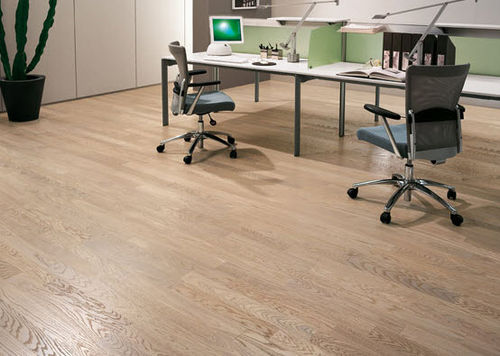 Engineered wood flooring / glued / birch / oak UNIKOLEGNO