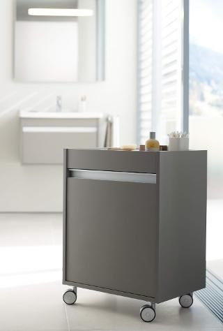 bathroom cabinet with casters kt2530 lr by christian werner duravit