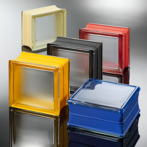square glass brick / bathroom / for interior walls / colored