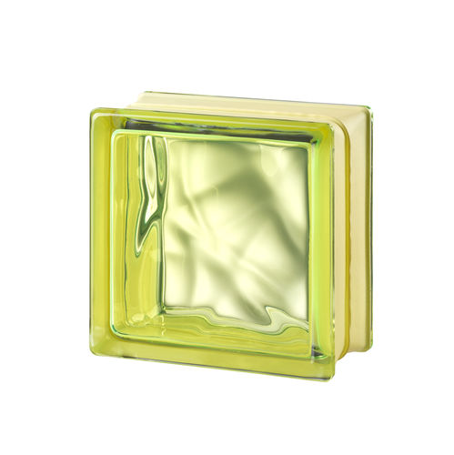 square glass brick / for interior walls / colored
