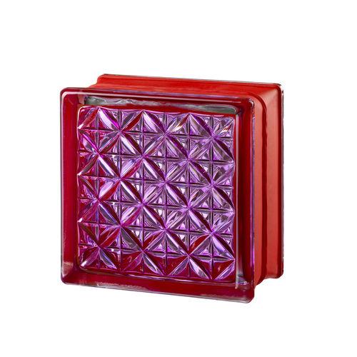 square glass brick / bathroom / for interior walls / colored