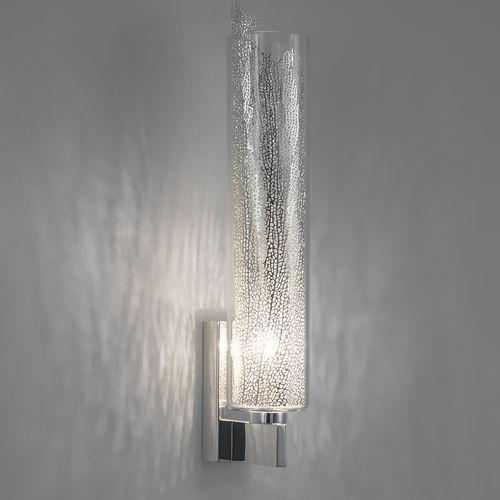 contemporary wall light / metal / borosilicate glass / LED