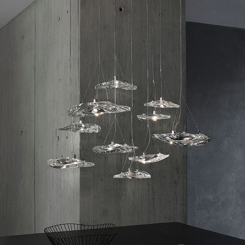 pendant lamp / contemporary / crystal / dimmable