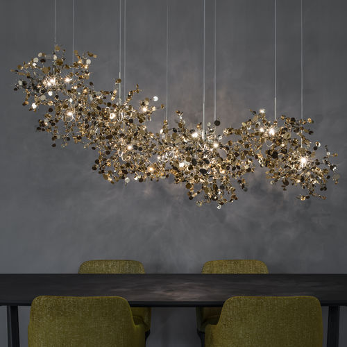 pendant lamp / contemporary / metal / halogen