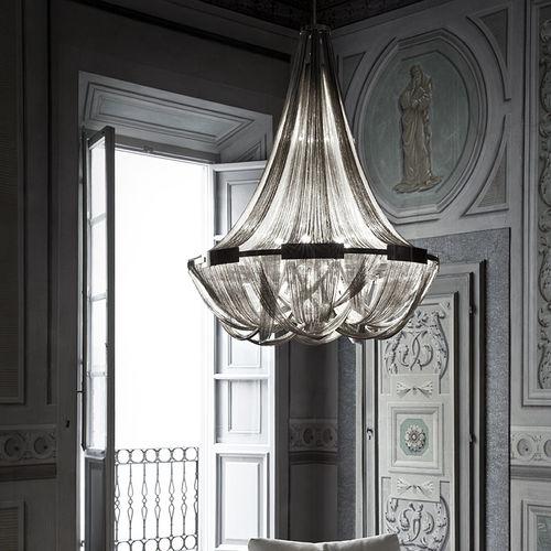 traditional chandelier / metal / incandescent