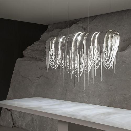 pendant lamp / original design / metal / LED
