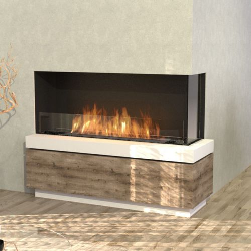 bioethanol fireplace / contemporary / open hearth / corner