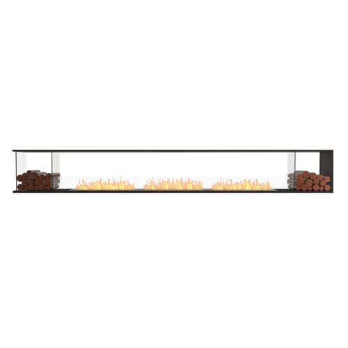 bioethanol fireplace / contemporary / open hearth / 3-sided