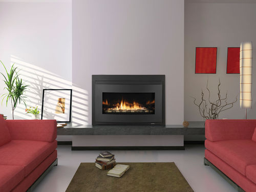 Gas fireplace insert / remote-controlled COSMO HEAT & GLO