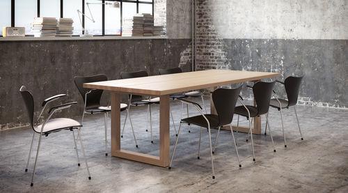 contemporary table / wenge / oak / walnut