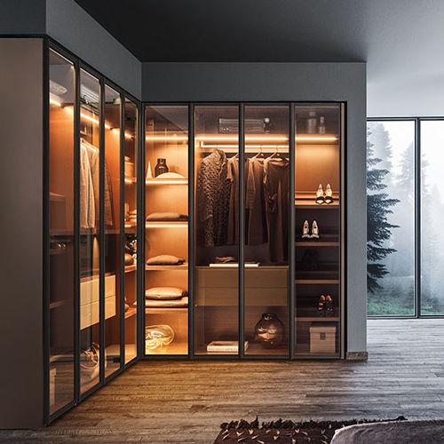 corner wardrobe / contemporary / glass / metal