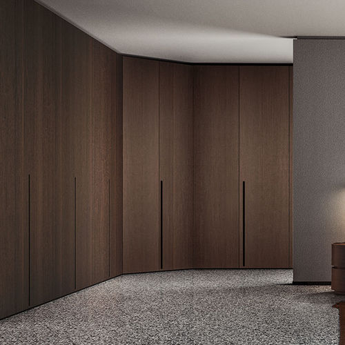 corner wardrobe / modular / contemporary / lacquered wood