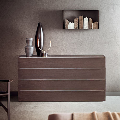 contemporary chest of drawers / wooden / glass / custom