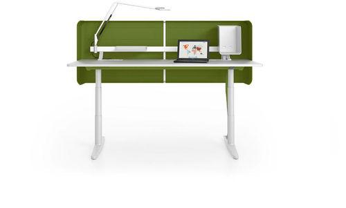 workstation desk / wood veneer / contemporary / with storage