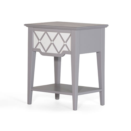 traditional bedside table / wooden / rectangular / for hotels