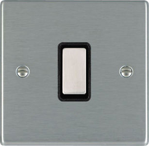 light switch / push-button / metal / traditional