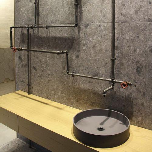 Countertop washbasin / round / concrete / contemporary CIRCUM 48 Urbi et Orbi