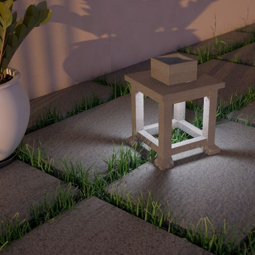 Floor lamp / contemporary / concrete / outdoor LANTERN Urbi et Orbi