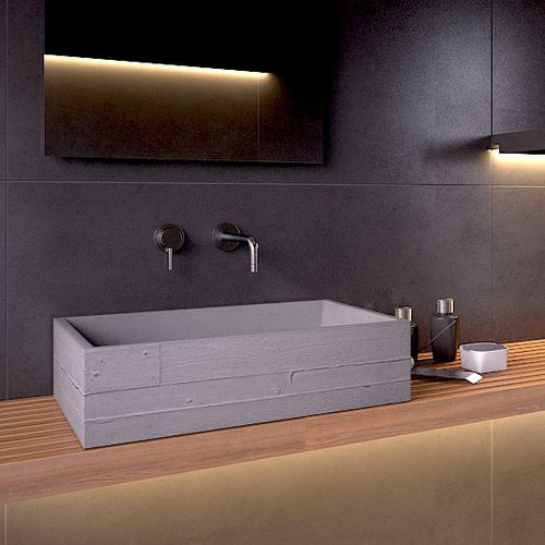Countertop washbasin / rectangular / concrete / contemporary IN VIVO 60 Urbi et Orbi