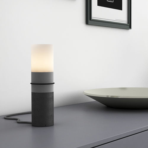 table lamp / contemporary / concrete / LED